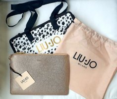 Liu Jo Clutch Gold und Leo Shopper Taschen Set