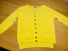 Liu Jo Damen Feinstrick Jacke in gelb