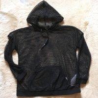Liu jo Jersey con capucha negro tejido mezclado