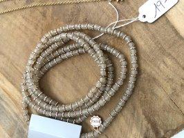 Lizas lange Halskette beige rosegold