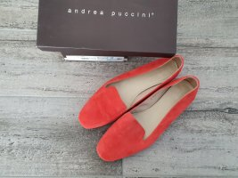 Andrea Puccini Moccasins salmon-bright red