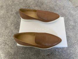 Loafer Escada NEU! Schuhe Gr. 39 braun Ballerina Leder