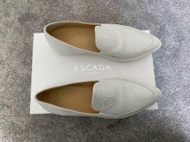 Loafer Escada NEU! Schuhe Gr. 39 weiß Ballerina Leder