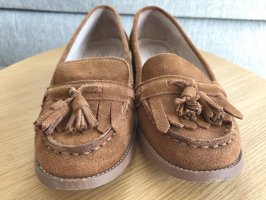 Topshop Slippers cognac-coloured
