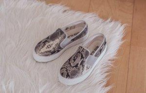 Loafers Schlappen Sneaker Snake Print Schlangenprint Schuhe Gr. 36 River Island hipster