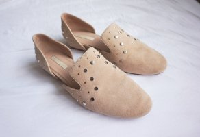 Loafers Wildleder beige