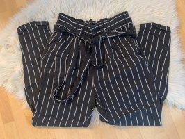 Fresh made Spodnie materiałowe czarny-biały