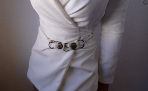 Vintage Cinturón de cadena multicolor tejido mezclado