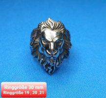 Löwenkopf Ring aus hochwertigem Chirurgenstahl
