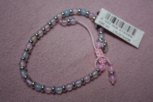 Bracelet en perles rose clair-violet