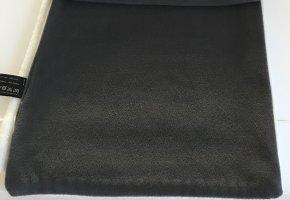 Bufanda de punto blanco puro-gris