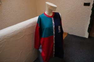 #Long-Sweatshirt, Gr. 48, #rot-blau-grün, #Trigema, #NEU