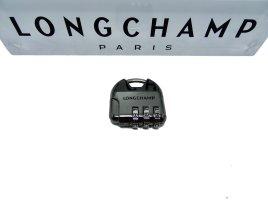 Longchamp Porte-clés gris foncé métal