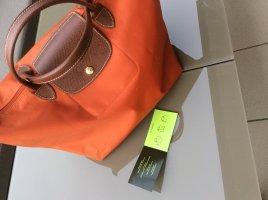 Longchamp Shopper brun-orange fluo