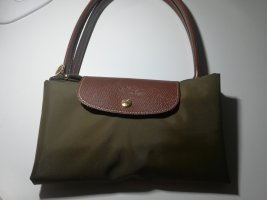 Longchamp Tote green grey nylon