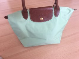 Longchamp Bolso barrel verde claro-marrón