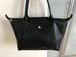 Longchamp Le Pliage Ledertasche schwarz