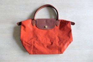 Longchamp Le Pliage S Tasche faltbar orange rostrot braun