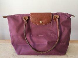 Longchamp Shoulder Bag grey lilac-purple nylon