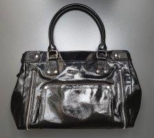 Longchamp Légende aus Lackleder, schwarz