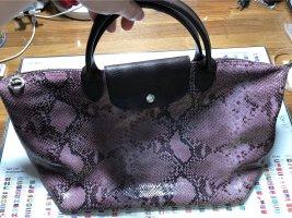 Longchamp Lepliage Leder Tasche mit Schlange Muster