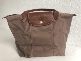 Longchamp Sac Baril gris brun