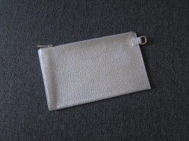 Longchamp Pochette argenté cuir