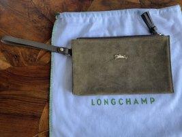 Longchamp Sac de soirée ocre-doré cuir