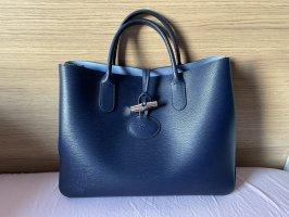 Longchamp Roseau dunkelblau/hellblau Shopper