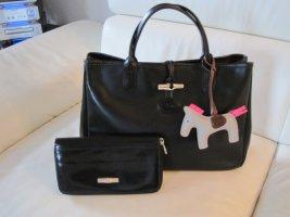 Longchamp Roseau Tasche mit Geldbörse, schwarz