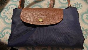 Longchamp Tasche Le Pliage, mit Leder (cognac)