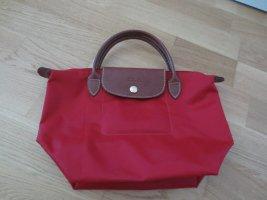 Longchamp Tasche, rot, klein, Gr. S, Shopper, Le Pliage, wie neu, nur ein paar mal getragen