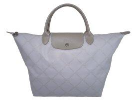 Longchamp WHITE-LIGHT GOLD LOGO Handtasche
