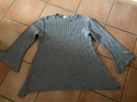 Longpulli / Strickkleid Gr. 46/48 von Club L London, grau, A-Linie