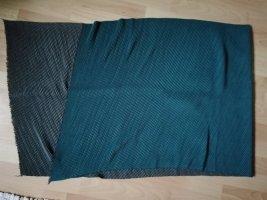 Woolen Scarf grey-petrol cotton