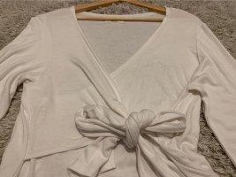 X2 T-shirt col en V blanc coton