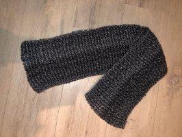 Handmade Knitted Scarf grey-dark grey