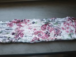 Cecil Tube Scarf white-raspberry-red