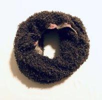 Handmade Snood dark brown-cream