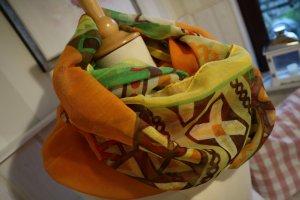 Écharpe ronde multicolore viscose