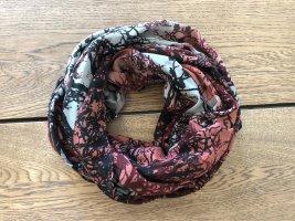 Loop-Schal in rot und grau
