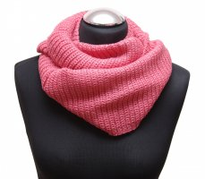 Bufanda de punto rosa