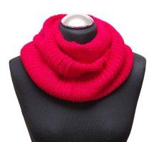 Bufanda de punto rojo