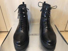 Loriblu Stiefeletten schwarz gefüttert Strasssteinen Leder boots