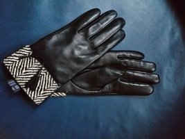 lothar weikert Leather Gloves black leather