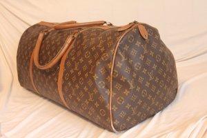 Louis Vuitton Bolso de viaje marrón Cuero