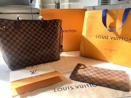 Louis Vuitto  Neverfull MM Damier Ebene Full Set