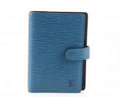 Louis Vuitton Custodie portacarte nero-blu Pelle