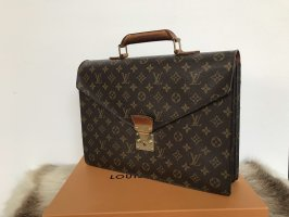 Louis Vuitton Briefcase dark brown-brown