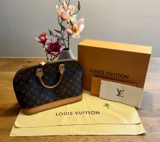 Louis Vuitton Bolso marrón oscuro-crema